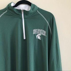 Michigan State Spartans Men's Quarter Zip Size 2XL